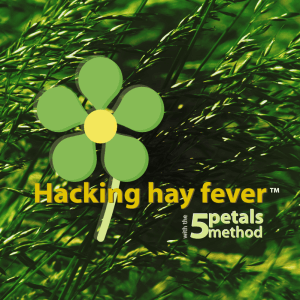 Hacking hay fever with the 5 petals method